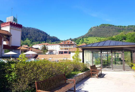 Exteriores del Gran Hotel Balneario Spa de Puente Viesgo en Cantabria